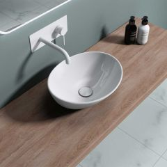 Counter Top Oval Ceramic Basin 470 x 330mm Bruessel 205 Second Image