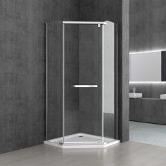 Pentagonal Shower Enclosure | Pivot Hinged Door | 8mm Safety Clear Glass| Ravenna 8 Second Image