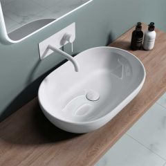 Large Counter Top Oval Ceramic Basin Bruessel 322 First Image