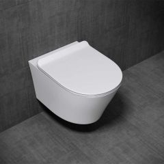 Wall Hung Ceramic Toilet Pan With Soft Close Toilet Seat | Aachen 501