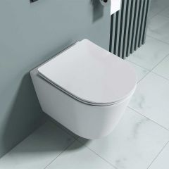Rimless Wall Hung Toilet With Soft Close Seat | Aachen 3083