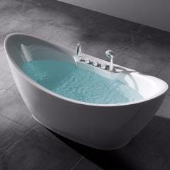 Freestanding Acrylic Bathtub Tub Taps And Bath Shower Mixer Second Image
