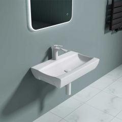 Rectangular Ceramic Wall Hung & Counter Top Bathroom Basin 625 x 395mm | Bruessel 890