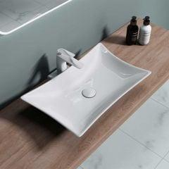 Modern Design Rectangle Ceramic Counter Top Basin 565 x 435mm | Bruessel 891