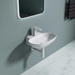 Ceramic Oval Counter Top Bathroom Basin 560 x 385mm | Bruessel 899