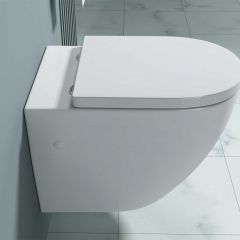 Traditional Wall Hung Toilet WC With Soft Close Seat | Aachen 376