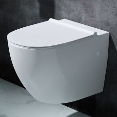 Ceramic Wall Hung Toilet With Slim Soft Close Seat Aachen 502