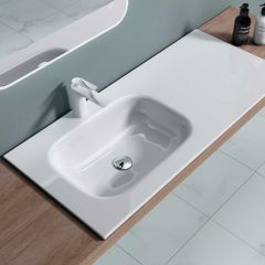Semi Recessed Stone Resin Single Basin 1000 x 480mm Colossum 04 First Image
