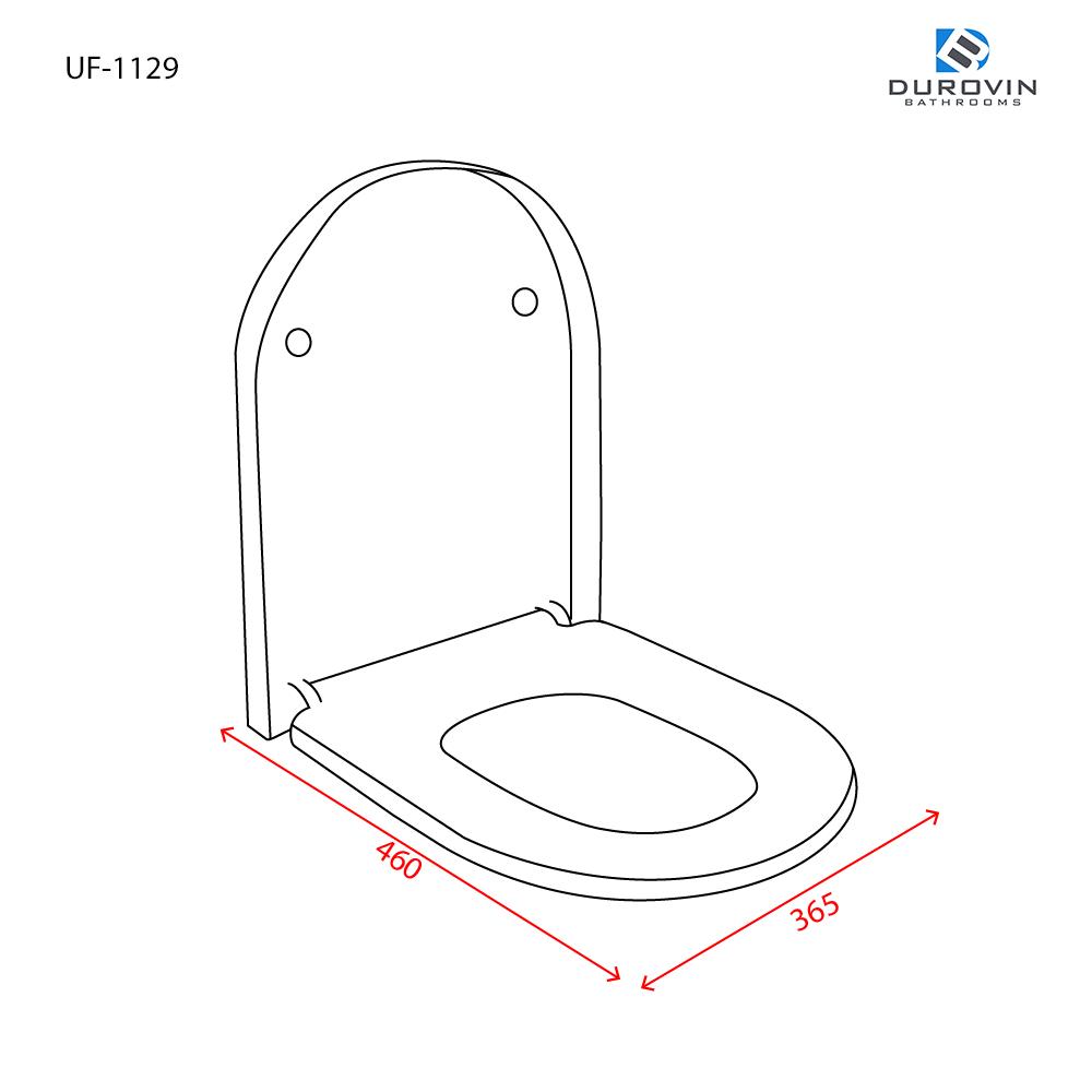 Luxury D-Shaped Soft Close Toilet Seat UF-1129